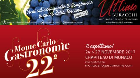 Il vino Nobile di Montepulciano Buracchi a Monte Carlo Gastronomie nel Principato di Monaco
