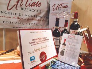 Il Premio per la Sommellerie che la nostra Azienda Agricola Buracchi si è aggiudicata a Monte Carlo Gastronomie