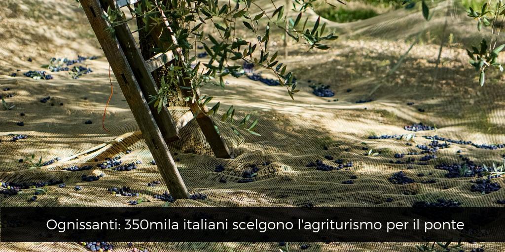 Ognissanti, 350mila italiani scelgono agriturismo