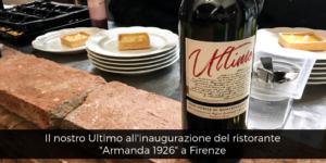 Il nostro Ultimo all'inaugurazione di Armanda 1926 a Firenze