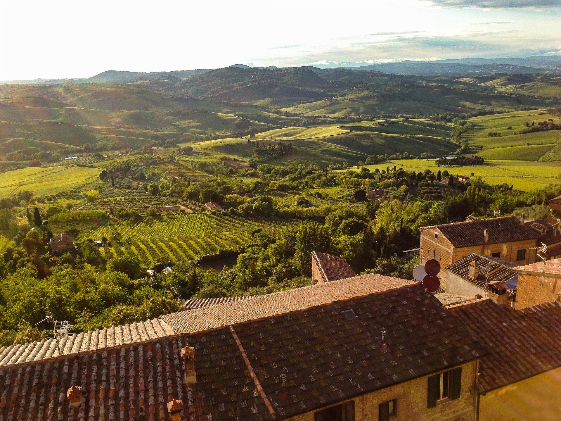 Veduta panoramica da Montepulciano