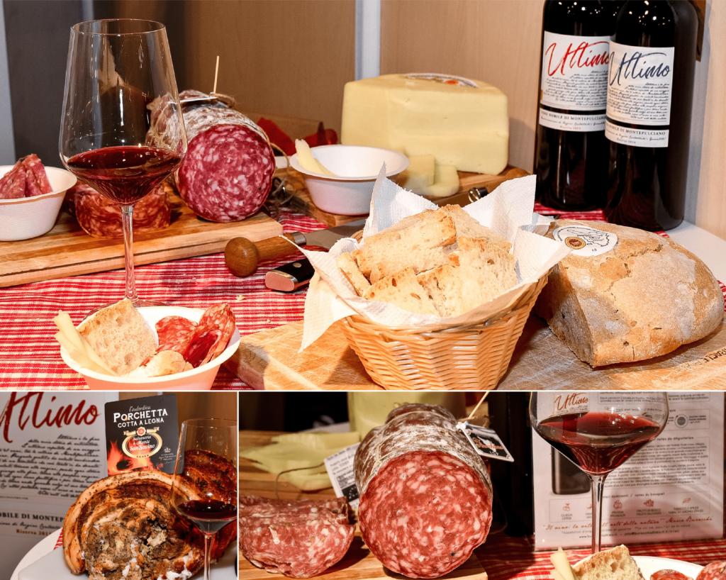 La merenda toscana che abbiamo proposto a Monte Carlo Gastronomie in abbinamento al nostro Ultimo, Vino Nobile di Montepulciano