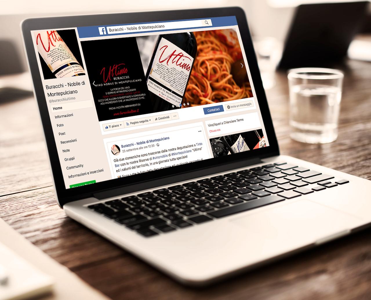 La pagina facebook dell'Azienda Agricola Buracchi: un sapiente mix di informazioni, curiosità, attualità e prodotti