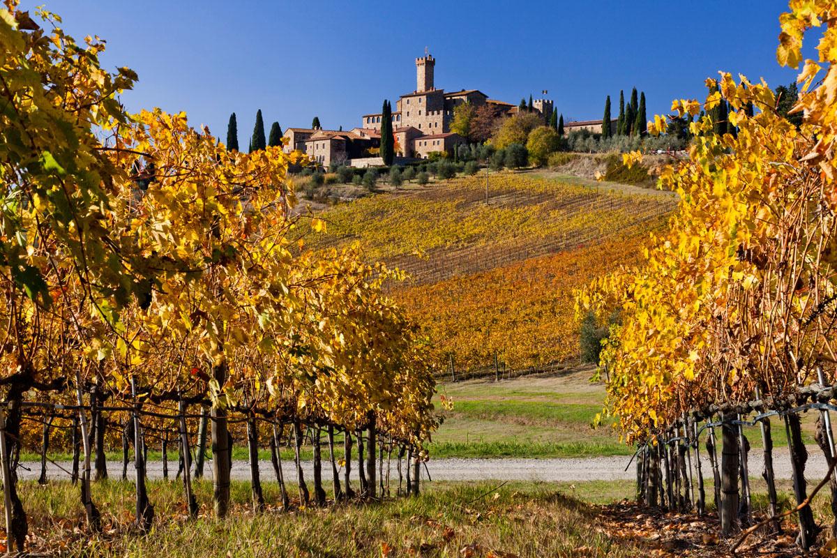 Il Castello di Brolio, cuore delle tenute Ricasoli, nel Chianti